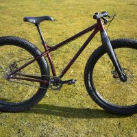 A custom Surly Krampus with Whisky Forks