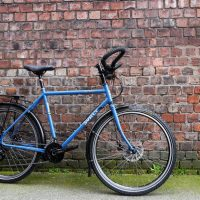 Sarah's Surly Disc Trucker with Plug dyno-charging