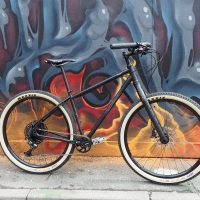 Steel Salsa Fargo with Jones bars and SRAM Eagle